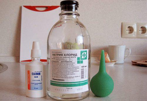 Раствор для промывания носа ребенка в домашних условиях