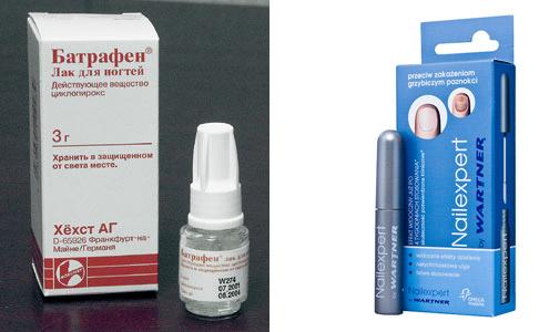 средства для лечения грибка ногтей в начальной стадии
