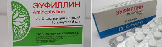 эуфиллин при лечении коклюша