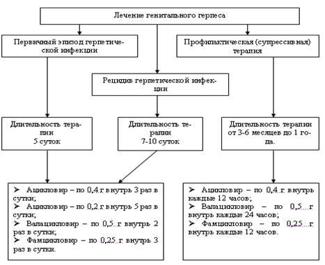 Схема лечения ацикловиром при герпесе
