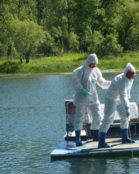 эпидемиологи - отбор проб воды