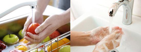 мытье рук, овощей и фруктов